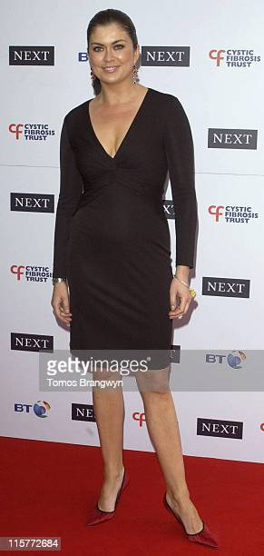 Amanda Lamb during Cystic Fibrosis Trust Breathing Life Awards Arrivals at Royal Lancaster Hotel in London Great Britain
