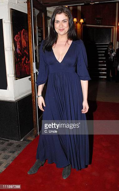 Amanda Lamb during Guys And Dolls VIP performance Red Carpet Arrivals at Piccadilly Theatre in London Great Britain