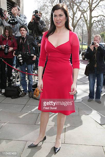 Amanda Lamb during TRIC Awards 2007 Outside Arrivals at Grosvenor House in London Great Britain