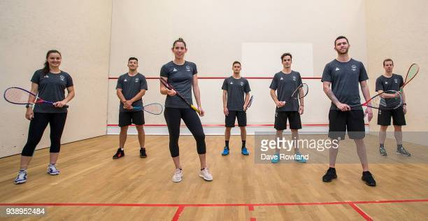 Amanda LandersMurphy Zac Millar Joelle King Evan Williams Paul Coll Lance Beddoes Campbell Grayson during the New Zealand Commonwealth Games Squash...