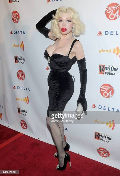 Amanda Lapore attends the GLAAD Manhattan Summer Event at Humphrey at the Eventi Hotel on August 7 2012 in New York City