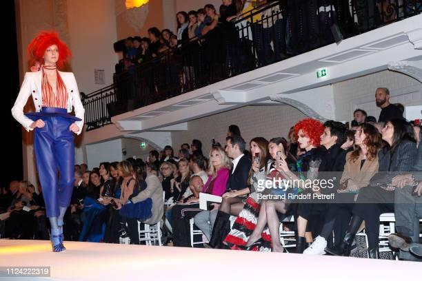 Amanda Lear a guest Iris Mittenaere Chompoo Araya Hargate Miss Fame Farida Khelfa Mademoiselle Agnes Boulard and Emmanuelle Alt attend the JeanPaul...