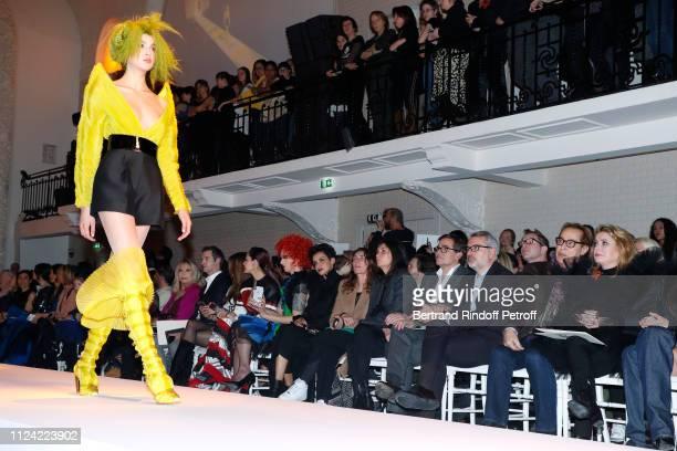 Amanda Lear a guest Iris Mittenaere Chompoo Araya Hargate Miss Fame Farida Khelfa Mademoiselle Agnes Boulard Emmanuelle Alt Owners of Gaultier Manuel...