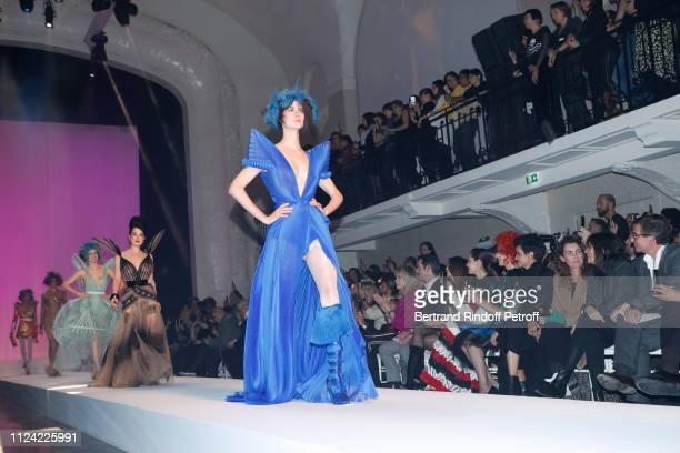 Amanda Lear a guest Iris Mittenaere Chompoo Araya Hargate Miss Fame Farida Khelfa Mademoiselle Agnes Boulard Emmanuelle Alt and CoOwner of Gaultier...