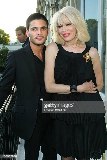 Amanda Lear and Edouard Collin at the Cercle Interallie in Paris France on June 03 2009