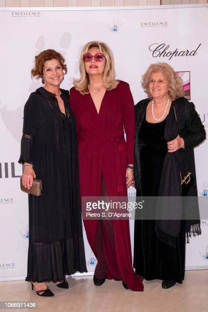 Amanda Lear and guests attend The Children For Peace Gala at Hotel Principe di Savoia on November 30 2018 in Milan Italy