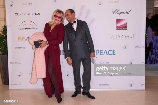 Amanda Lear and Massimo Leonardelli attends The Children For Peace Gala at Hotel Principe di Savoia on November 30 2018 in Milan Italy