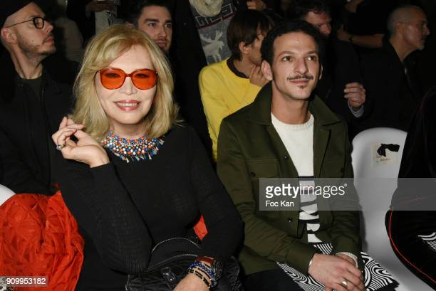 Amanda Lear and Vincent Dedienne attend the JeanPaul Gaultier Haute Couture Spring Summer 2018 show as part of Paris Fashion Week on January 24 2018...