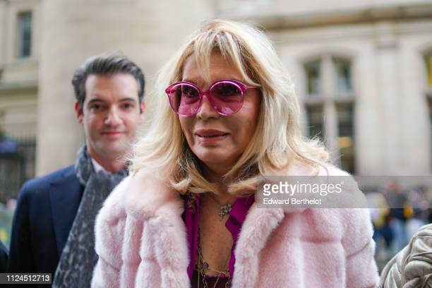 Amanda Lear attends Atelier JeanPaul Gaultier during Paris Fashion Week Haute Couture Spring Summer 2019 on January 23 2019 in Paris France