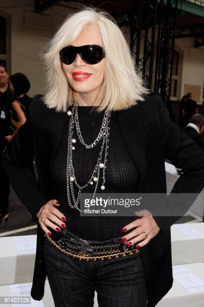 Amanda Lear attends Givenchy Pret a Porter show as part of the Paris Womenswear Fashion Week Spring/Summer 2010 on October 4 2009 in Paris France