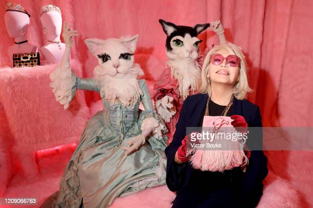 Amanda Lear attends Sensorama Vivier the Roger Vivier press day at Fondation Cino et Simone del Duca during Paris Fashion Week Womenswear Fall Winter...