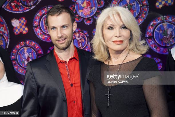 Amanda Lear attends Sister Act The Musical' Gala Premiere at Theatre Mogador on September 20 2012 in Paris France