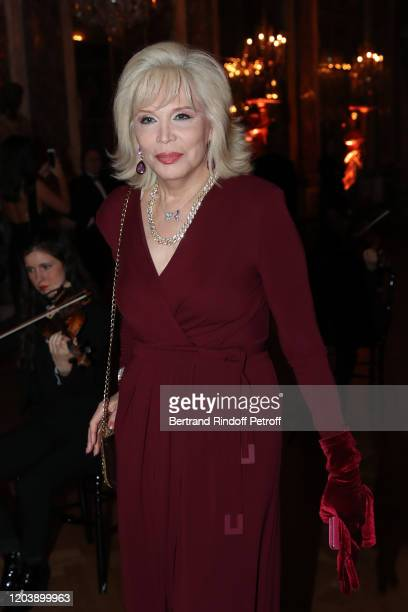Amanda Lear attends the 20th Gala Evening of the Paris Charter Against Cancer for the benefit of the International Institute of Cancer Research in...
