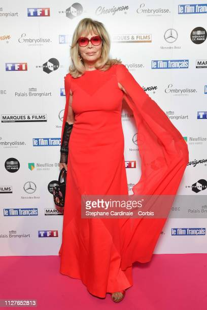 "Amanda Lear attends the 26th ""Trophees Du Film Francais"" Photocall at Palais Brongniart on February 05, 2019 in Paris, France."