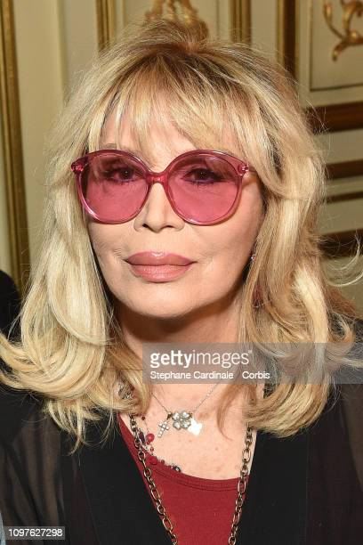 Amanda Lear attends the Antonio Grimaldi Haute Couture Spring Summer 2019 show as part of Paris Fashion Week on January 21 2019 in Paris France