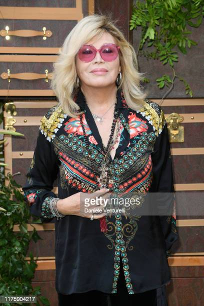 Amanda Lear attends the Etro fashion show during the Milan Fashion Week Spring/Summer 2020 on September 20, 2019 in Milan, Italy.