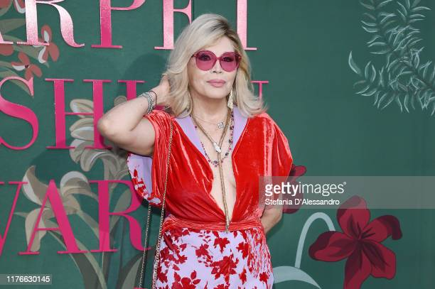 Amanda Lear attends the Green Carpet Fashion Awards during the Milan Fashion Week Spring/Summer 2020 on September 22, 2019 in Milan, Italy.