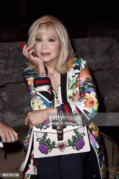 Amanda Lear attends the Gucci Cruise 2019 show at Alyscamps on May 30 2018 in Arles France