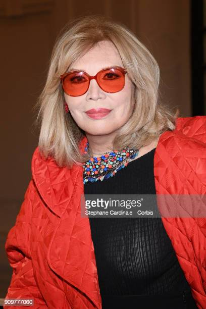 Amanda Lear attends the Jean Paul Gaultier Haute Couture Spring Summer 2018 show as part of Paris Fashion Week January 24 2018 in Paris France