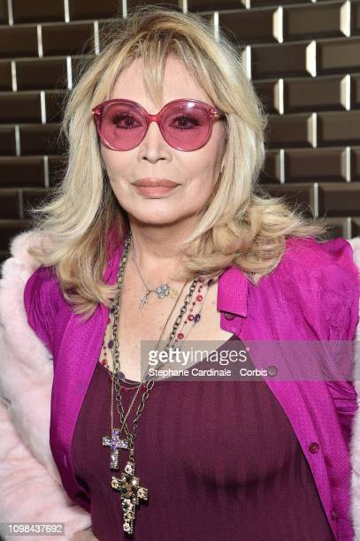 Amanda Lear attends the Jean Paul Gaultier Haute Couture Spring Summer 2019 show as part of Paris Fashion Week on January 23 2019 in Paris France