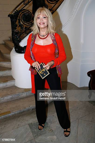 Amanda Lear attends the Jean Paul Gaultier show as part of Paris Fashion Week Haute Couture Fall/Winter 2015/2016 on July 8 2015 in Paris France