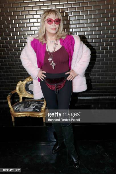 Amanda Lear attends the JeanPaul Gaultier Haute Couture Spring Summer 2019 show as part of Paris Fashion Week on January 23 2019 in Paris France