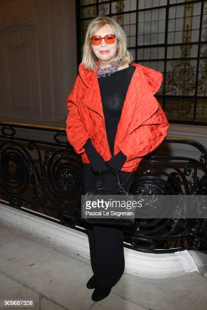Amanda Lear attends the JeanPaul Gaultier Haute Couture Spring Summer 2018 show as part of Paris Fashion Week on January 24 2018 in Paris France