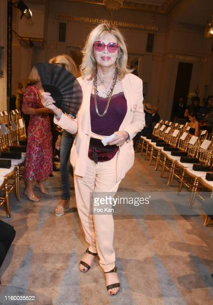 Amanda Lear attends the Kithe Brewster Haute Couture Fall/Winter 2019 2020 show as part of Paris Fashion Week on July 03, 2019 in Paris, France.