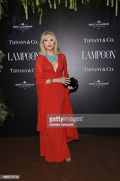 Amanda Lear attends the Lampoon Gala during the 72nd Venice Film Festival at Palazzo Pisani Moretta on September 3 2015 in Venice Italy