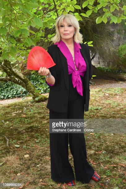 "Amanda Lear attends the ""Miss"" Photocall at 13th Angouleme French-Speaking Film Festival on August 30, 2020 in Angouleme, France."