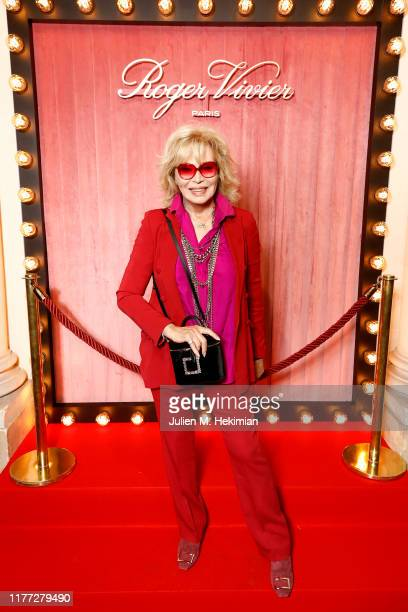 Amanda Lear attends the Roger Vivier Press day at Hotel Vivier during Paris Fashion Week Womenswear Spring Summer 2020 on September 26, 2019 in...