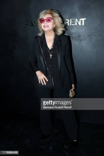 Amanda Lear attends the Saint Laurent Womenswear Spring/Summer 2020 show as part of Paris Fashion Week on September 24, 2019 in Paris, France.