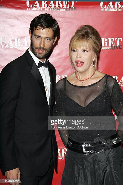 Amanda Lear during 'Cabaret' Le Musical de Broadway Live Premiere Arrivals at Les Folies Bergeres in Paris France