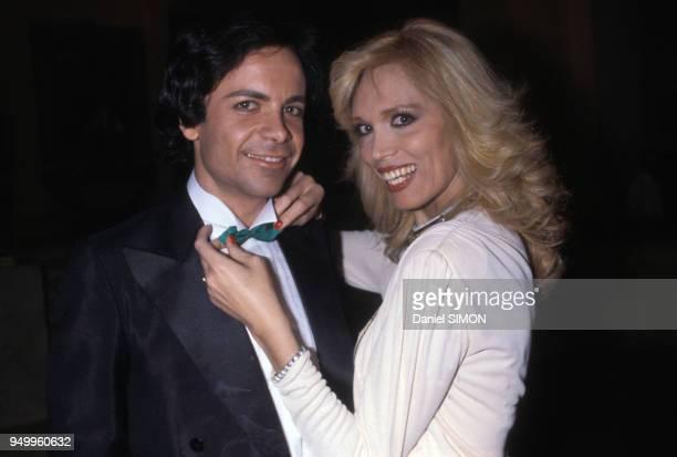 Amanda Lear et son mari Alain-Philippe Malagnac en mai 1979 à Cannes, France.
