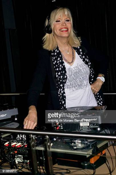 Amanda Lear hosts the Girly Star Party at Kube Hotel on October 14 2009 in Paris France