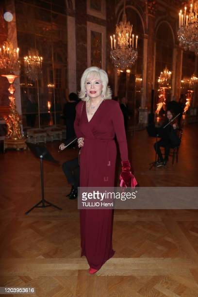 Amanda Lear is photographed for Paris Match at the evening gala for 20th Charter of Paris againist Cancer by professor David Khayat at the Château de...