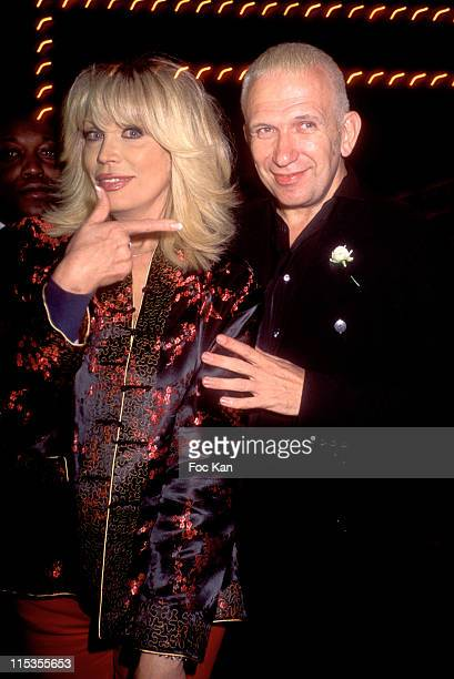"Amanda Lear, Jean Paul Gaultier during 2004 Cannes Film Festival - ""Bad Education"" - After Party at Espace Vieux Port in Cannes, France."