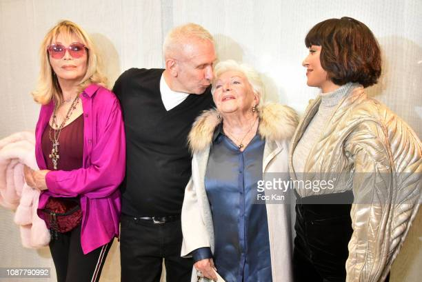 Amanda Lear JeanPaul Gaultier Line Renaud and Kat Graham attend the JeanPaul Gaultier Haute Couture Spring Summer 2019 show as part of Paris Fashion...