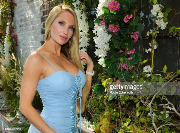 Amanda Lee poses for a portrait at Brittny Gastineau Hosts EyeOnGlam X 1849 Wine at Catch LA on March 17 2019 in West Hollywood California