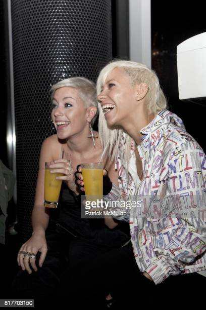 Amanda Leigh Dunn and Jane Bang attend EMPOWERING WOMEN THROUGH MUSIC INITIATIVE by MUSIC UNITES at The Standard's Le Bain on October 4 2010 in New...