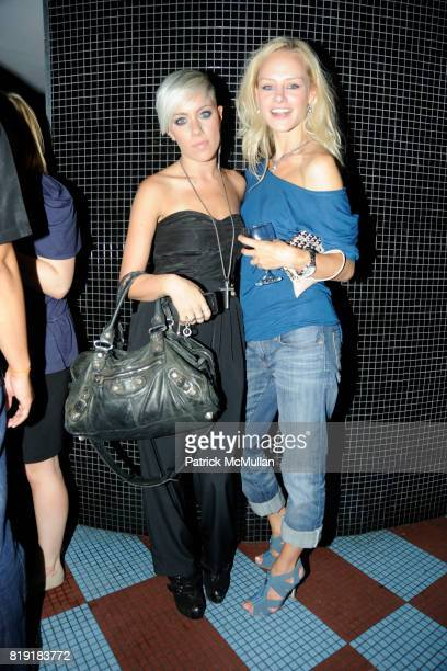 Amanda Leigh Dunn and Mila attend MAC alice olivia by Stacey Bendet Collection Launch at Beauty Bar on July 14 2010 in New York City