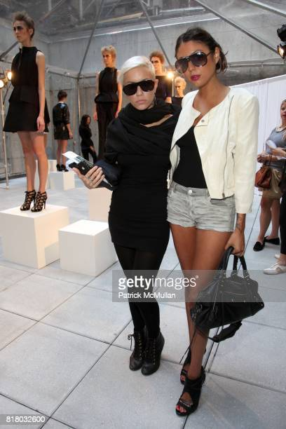 Amanda Leigh Dunn and Natalia Ramirez attend KAROLINA ZMARLAK Spring 2011 Presentation at Cassa Hotel on September 13 2010 in New York City