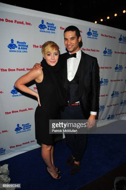 Amanda Leigh Dunn and PJ Calderon attend THE DOE FUND CELEBRITY DJ SERIES at Angel Orensanz NYC on May 14 2009