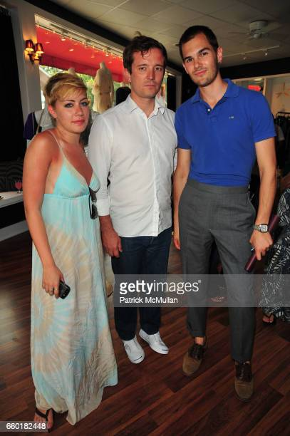 Amanda Leigh Dunn James West and Lyle Maltz attend TEMPERLEY London and CHRISTY TURLINGTON host Shop For CARE at Temperley East Hampton NY on July 18...