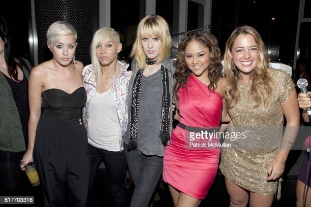 Amanda Leigh Dunn Jane Bang and Michelle Edgar attend EMPOWERING WOMEN THROUGH MUSIC INITIATIVE by MUSIC UNITES at The Standard's Le Bain on October...