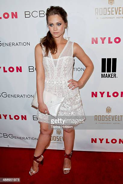 Amanda Leighton attends the Nylon Magazine May young Hollywood issue party at Tropicana Bar at The Hollywood Rooselvelt Hotel on May 8 2014 in...
