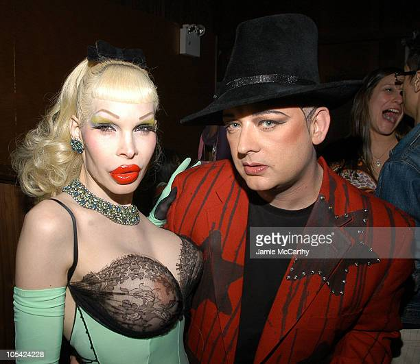 Amanda Lepore and Boy George during Charm School University at Marquee at Marquee in New York City New York United States