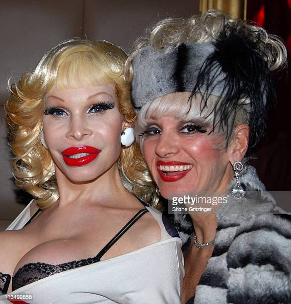 Amanda Lepore and Cognac Wellerlane during The Launch Of La Dolce Eve Kitten Doll Hosted By Amanda Lepore February 20 2007 at Room Service in New...