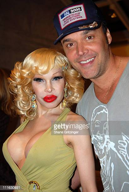 Amanda Lepore and David LaChapelle during David LaChapelle Signs His New Book Heaven to Hell at the Taschen Store Soho in New York City February 22...
