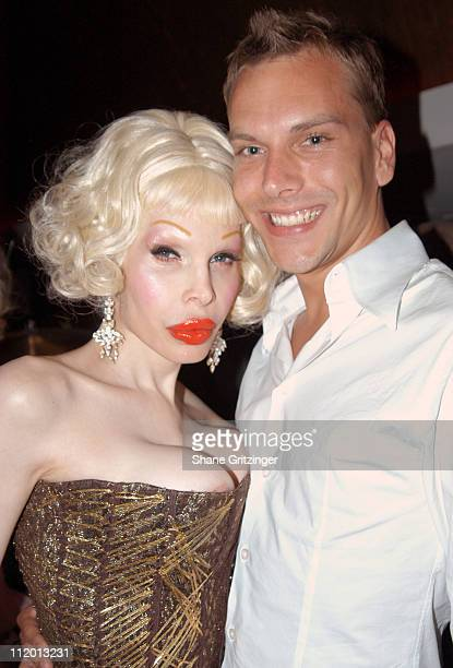 Amanda Lepore and Jeremy White during Heatherette Hits the Hamptons at Resort in East Hampton New York United States